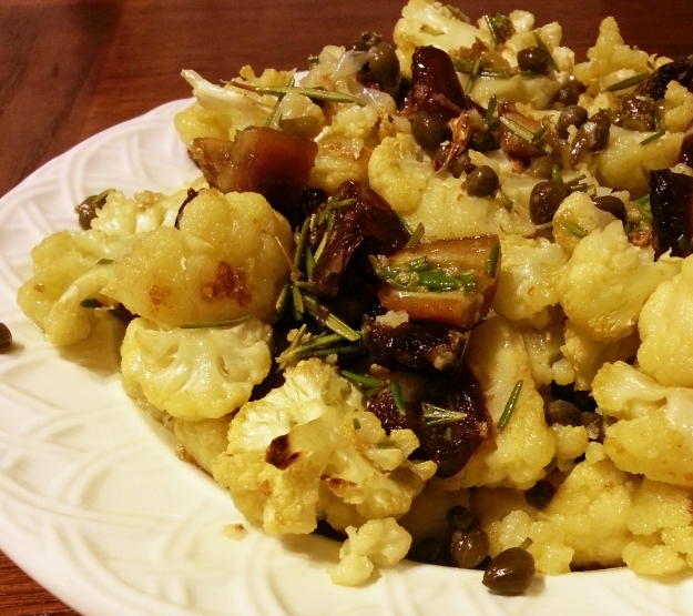 cauliflower with dates and capers -- annumography