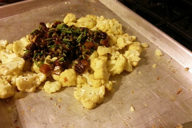 easy weeknight cauliflower -- annumography