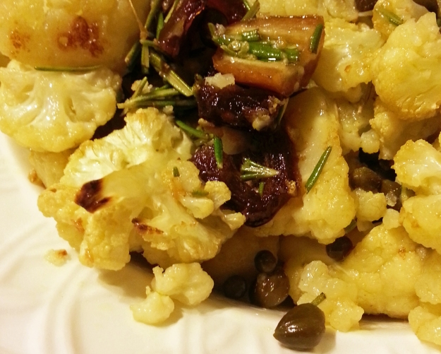 easy weeknight cauliflower with dates and capers -- annumography